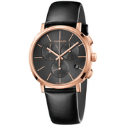 K8Q376C3 [Posh 42mm クロノ SS PG BKレザー BK 腕時計 並行輸入品 2年保証]