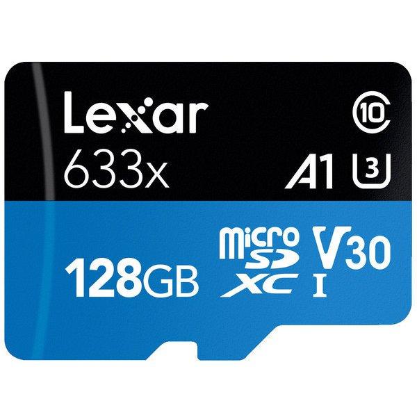 LSDMI128BB1JP633A [Lexar High-Performance 633x microSDXC UHS-I A1 U3 V30 128GB]