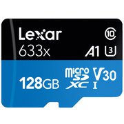 LSDMI128BB1JP633A [Lexar High-Performance 633x microSDXC UHS-I A1 U3 V30 128GB]