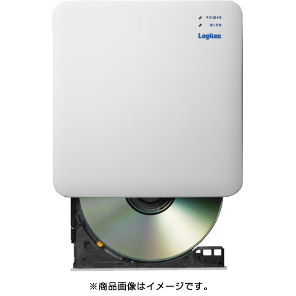 LDR-PS5GWU3PWH [WiFi対応DVDディスクドライブ/5GHz/iOS_Android対応/DVD再生対応/CD録音対応/USB2.0/ブラック]