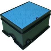 TSKHSB-4BL [トーエー 樹脂製散水栓ボックス ホース穴付 HSB 4 ブルー]