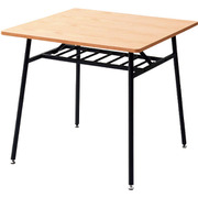 TTD-75(OAK/SBK) [山善 突板仕様 ダイニングテーブル 75正方形_44128]