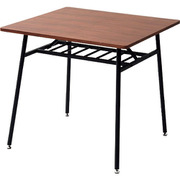 TTD-75(WL/SBK) [山善 突板仕様 ダイニングテーブル 75正方形_36687]