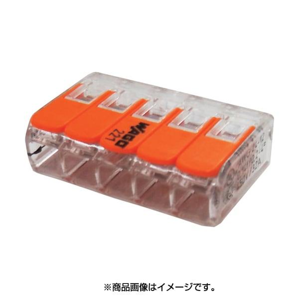 WFR-5BP-JP [JAPPY ワンタッチコネクタ クリアタイプ 5個入 電線数5本]