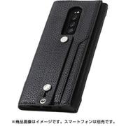 DCS-XP1PUALBK [Xperia1用ケース clings Slim Hand Strap Case PUレザー ブラック]