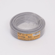 VVFケーブル 3心X2.0mm 5m 灰色