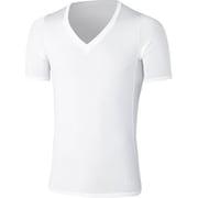 クーリングVネックハーフスリーブ 3F09112 (W)ホワイト XLサイズ [コンディショニングウェアトップス メンズ]