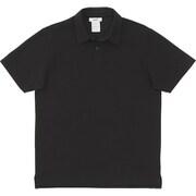 ミディアムドライジャージ ショートスリーブポロ SHORT SLEEVE POLO MX38101 (K)ブラック XLサイズ [アウトドア カットソー メンズ]