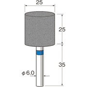 R2382 [リューター 軸付セラミックゴム砥石(金属研削用)]