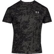 UA SPEED STRIDE PRINTED SS 1326778 BLK/BLK/RLT LGサイズ [ランニングシャツ メンズ]