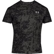 UA SPEED STRIDE PRINTED SS 1326778 BLK/BLK/RLT SMサイズ [ランニングシャツ メンズ]
