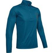 UA SPEED STRIDE SPLIT 1/4 ZIP 1342689 TVB/PCG/RLT LGサイズ [ランニングシャツ メンズ]