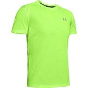 UA STREAKER 2.0 SHORTSLEEVE 1326579 LLT/LLT/RLT LGサイズ [ランニングシャツ メンズ]