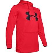 UA AF PO Hoodie Big Logo Graphic 1345321 RED/BLK LGサイズ [トレーニングフーディー メンズ]