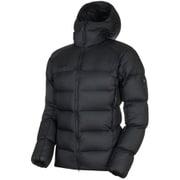 Meron IN Hooded Jacket AF Men 1013-00740 black-black XSサイズ [アウトドア ダウンウェア メンズ]