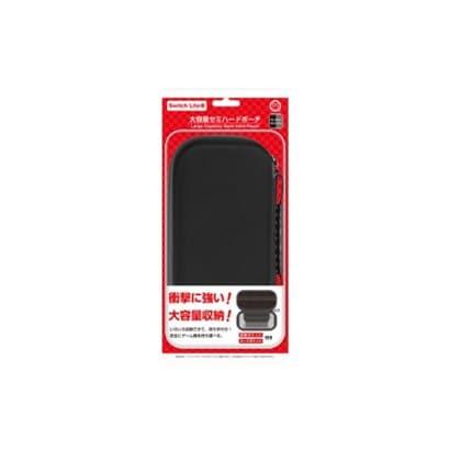 CC-SLDHP-BG [Switch Lite用 大容量セミハードポーチ ブラックグレー]