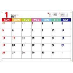 CAL-41 [【限定】2020 カレンダー ジャバラカレンダータテ伸び A4]