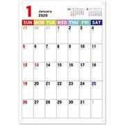 CAL-42 [【限定】2020 カレンダー ジャバラカレンダーヨコ伸び A4]