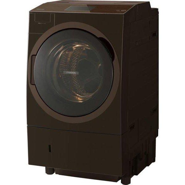 TW-127X8L(T) [ドラム式洗濯乾燥機 ZABOON ウルトラファインバブルW搭載 左開き 12.0kg グレインブラウン]