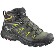 X ULTRA 3 WIDE MID GORE-TEX L40129500 CASTOR GRAY/BLACK/GREEN SULPHUR 27cm [トレッキングシューズ メンズ]