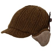 Knit Flight Cap PH958HW20 BR_ブラウン [アウトドア帽子]