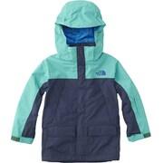 スノートリクライメイトジャケット NSJ61801 (CK)コズミックブルー×ココモグリーン 110cm [スキーウェアジュニア]