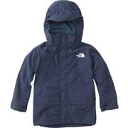 スノートリクライメイトジャケット SNOW TRICLIMATE JACKET NSJ61801 (CM)コズミックブルー 100cm [スキーウェアジュニア]