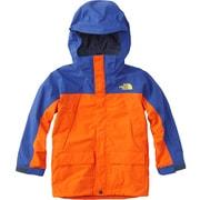 SNOW TRICLIMATE JK NSJ61801 (PS)ペルシャオレンジ×ソーダライトブルー 120cm [スキーウェアジュニア]