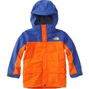 スノートリクライメイトジャケット SNOW TRICLIMATE JACKET NSJ61801 (PS)ペルシャオレンジ×ソーダライトブルー 140cm [スキーウェアジュニア]