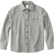 ロングスリーブ セルセンウールシャツ L/S THIELSEN WOOL SHIRT NRW61607 (Z)ミックスグレー Lサイズ [アウトドア シャツ レディース]