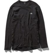 ロングスリーブホットクルー L/S HOT Crew NU65152 (K)ブラック XLサイズ [アウトドア アンダーウェア メンズ]