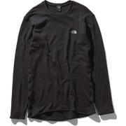 ロングスリーブホットクルー L/S HOT Crew NU65152 (K)ブラック Sサイズ [アウトドア アンダーウェア メンズ]