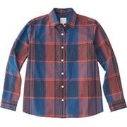 ロングスリーブマドラスチェックシャツ LS MADRAS CHECK SHIRT NRW11812 (RN)レッドネイビー Mサイズ [アウトドア シャツ レディース]