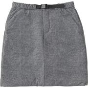 ミラージュサーマルスカート Mirage Thermal Skirt NYW81808 (ZC)ミックスチャコール Lサイズ [アウトドア スカート レディース]