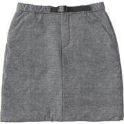 ミラージュサーマルスカート Mirage Thermal Skirt NYW81808 (ZC)ミックスチャコール Mサイズ [アウトドア スカート レディース]