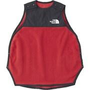 Baby Micro Fleece Sleeper NNB71801 (RR)レイジレッド BFサイズ [ウエア ベビー用]