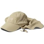 サンシールドキャップ Sunshield Cap NN01905 (WB)ツイルベージュ Lサイズ [アウトドア 帽子]