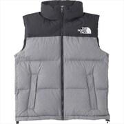 ノベルティーヌプシベスト Novelty Nuptse Vest ND91844 (Z)ミックスグレー XLサイズ [アウトドア ダウンウェア メンズ]