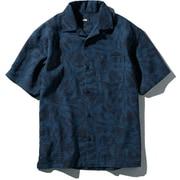 S/S Climbing Summer Shirt NR21931 VN_ベジテカモネイビー Mサイズ [アウトドア シャツ メンズ]