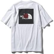 S/S National Flag Square Logo Tee NT31943 (WJ)ホワイトジャパン XXLサイズ [アウトドア カットソー メンズ]