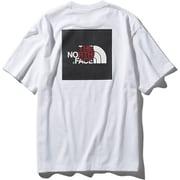 S/S National Flag Square Logo Tee NT31943 WJ_ホワイトジャパン Lサイズ [アウトドア カットソー メンズ]