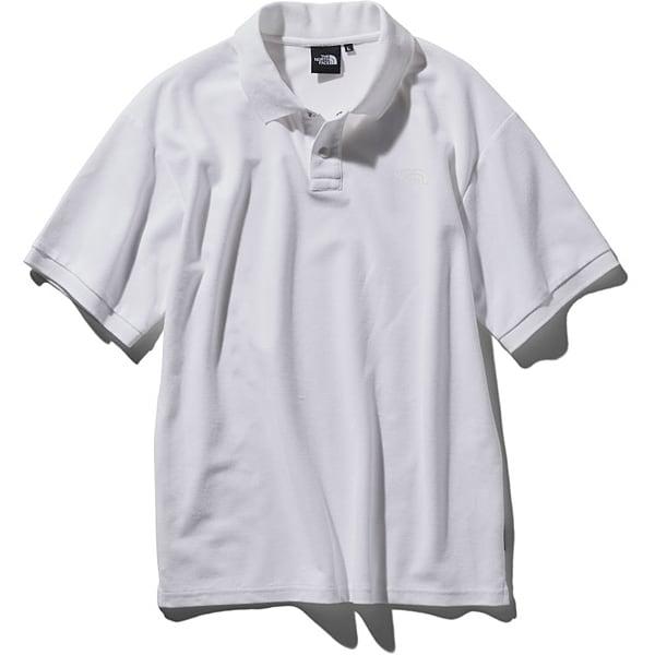 ショートスリーブカジュアルポロ S/S Casual Polo NT21951 (W)ホワイト Lサイズ [アウトドア カットソー メンズ]