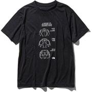 S/S Geodome Tee NT31938 (K)ブラック Lサイズ [アウトドア カットソー メンズ]