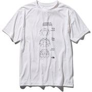 S/S Geodome Tee NT31938 (W)ホワイト Lサイズ [アウトドア カットソー メンズ]