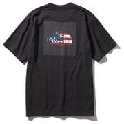 S/S National Flag Square Logo Tee M KU [アウトドア 半袖Tシャツ]