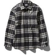 L/S Nuthatch Shirt NRW11951 (K)ブラック Lサイズ [アウトドア シャツ レディース]