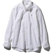 ロングスリーブヒムリッジシャツ L/S Him Ridge Shirt NR11955 (W)ホワイト Mサイズ [アウトドア シャツ メンズ]