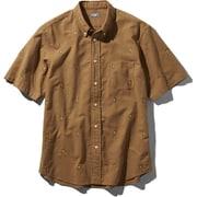 S/S Him Route Shirt NR21956 (CH)カーゴカーキ Lサイズ [アウトドア シャツ メンズ]