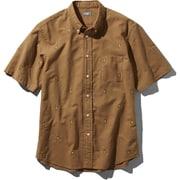S/S Him Route Shirt NR21956 (CH)カーゴカーキ Sサイズ [アウトドア シャツ メンズ]