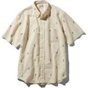 S/S Him Route Shirt NR21956 (VW)ビンテージホワイト XLサイズ [アウトドア シャツ メンズ]